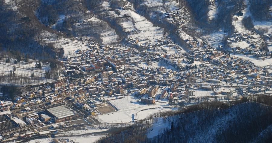 Villar Perosa dala montagna dell'Inverso