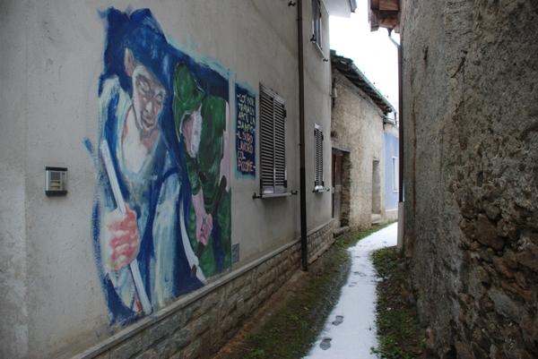 Un murales di Balma di Roure