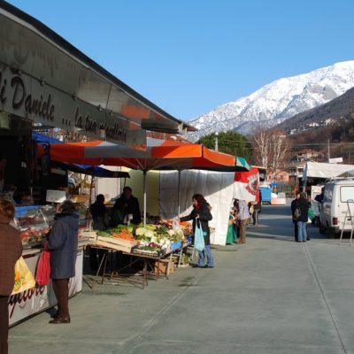 Il mercato a Dubbione - Pinasca