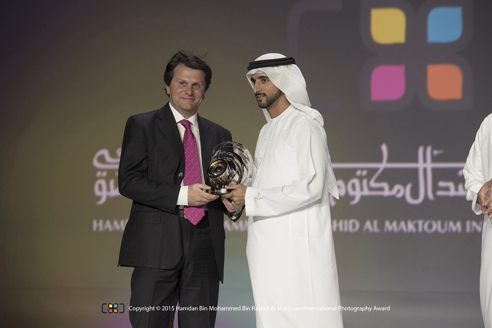 La premiazione con il Principe di Dubai  Hadman Bin Mohammed Bin Rashid Al Maktoum