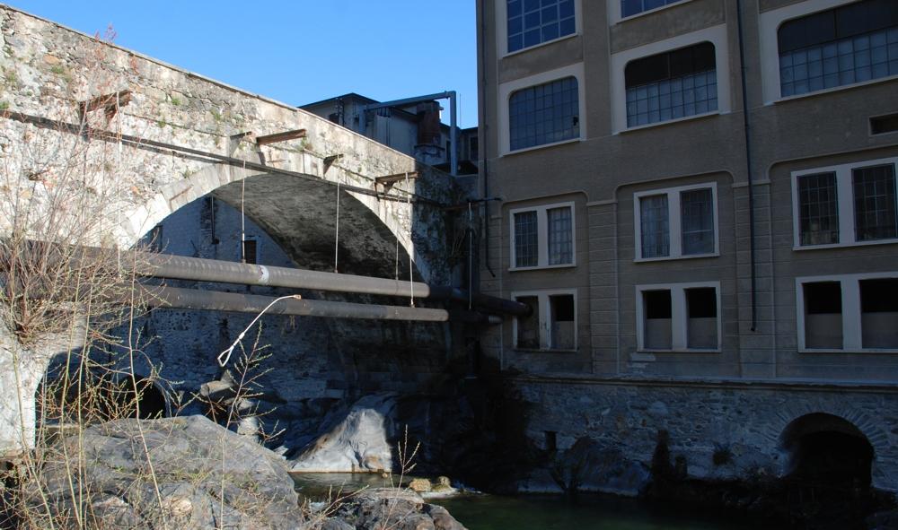 Il ponte di Perosa Argentina - marzo