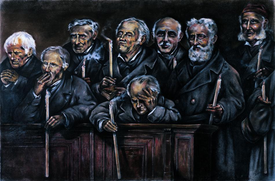 Uomini in chiesa