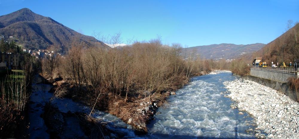 S. Germano: l'ansa ha protetto il ponte funzionando da cassa di espansione