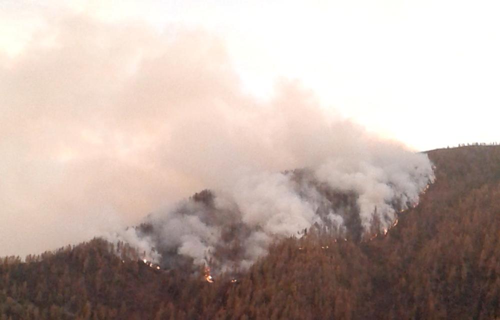 Incendio a Bourcet - Foto J. Charrier