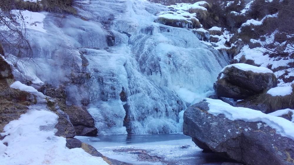 Le cascate di Faetto, Val Germanasca