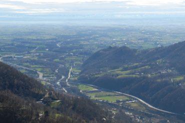 Lo sbocco della Val Chisone da San Benedetto